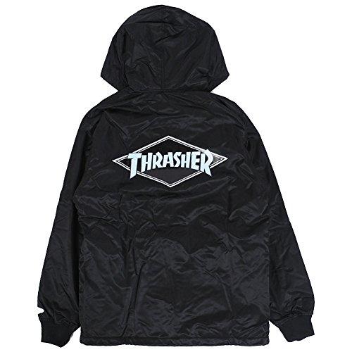 ニューエラ スラッシャー フード コーチジャケット ブラック 黒 アウター NEWERA THRASHER HOODED COACH JACKET BLACK 11474163