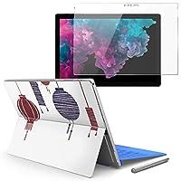 Surface pro6 pro2017 pro4 専用スキンシール ガラスフィルム セット 液晶保護 フィルム ステッカー アクセサリー 保護 提灯 ライト 014689