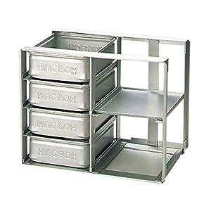 アルミ 冷蔵庫用 パンラック N-4-T/61-7956-95