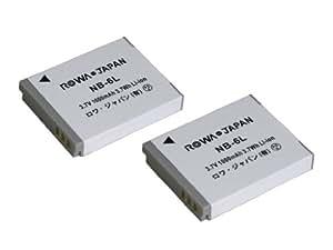 【実容量高】【2個セット】【残量表示対応】 CANON キャノン PowerShot SX700 HS IXY Digital 930 IS の NB-6L NB-6LH 互換 バッテリー【ロワジャパンPSEマーク付】