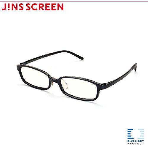 【JINS SCREEN クリアレンズ】スクエア (BLACK)