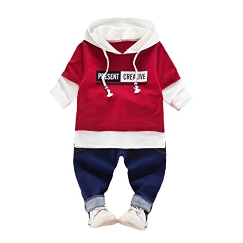 0d52da0beba14 赤 青 男女兼用 2点セット 上着 パンツ ベビー服 女の子 赤ちゃん服 幼児 ...