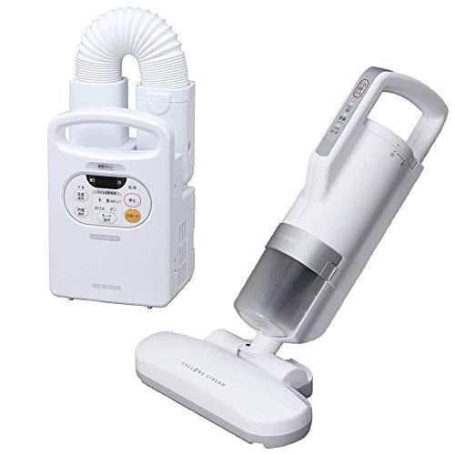 アイリスオーヤマ 布団乾燥機 カラリエ 温風機能付 FK-C2-WP & 布団クリーナー ダニ・ちりセンサー搭載 た...