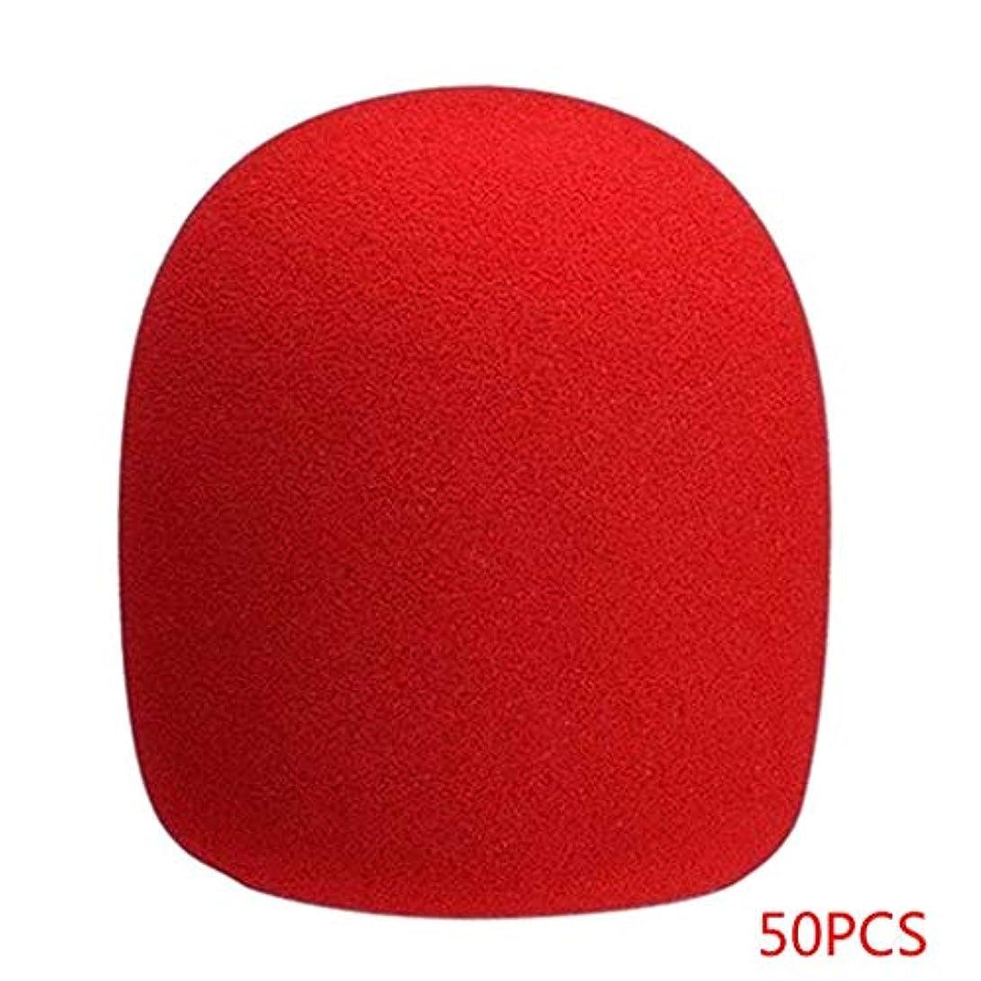もの診療所借りるKOROWA 50個セット マイクロフォン ヘッドセット グリル ウィンドスクリーン スポンジ フォーム 赤?ブラック?マイク?カバー