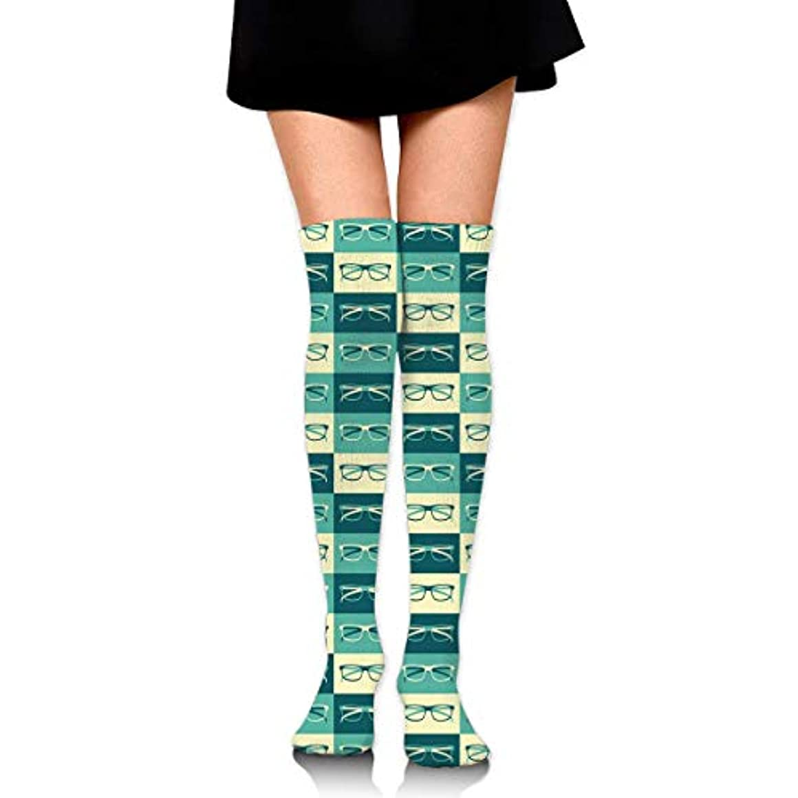 棚愛情深い浸透するMKLOS 通気性 圧縮ソックス Breathable Thigh High Socks Over Exotic Psychedelic Print Compression High Tube Thigh Boot Stockings...