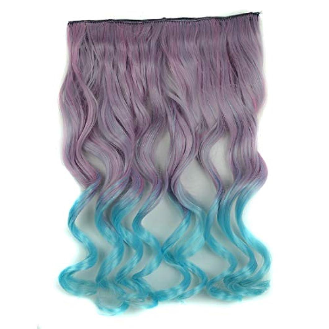 真珠のような差矢じりWTYD 美容ヘアツール ワンピースシームレスヘアエクステンションピースカラーグラデーション大波ロングカーリングクリップタイプヘアピース