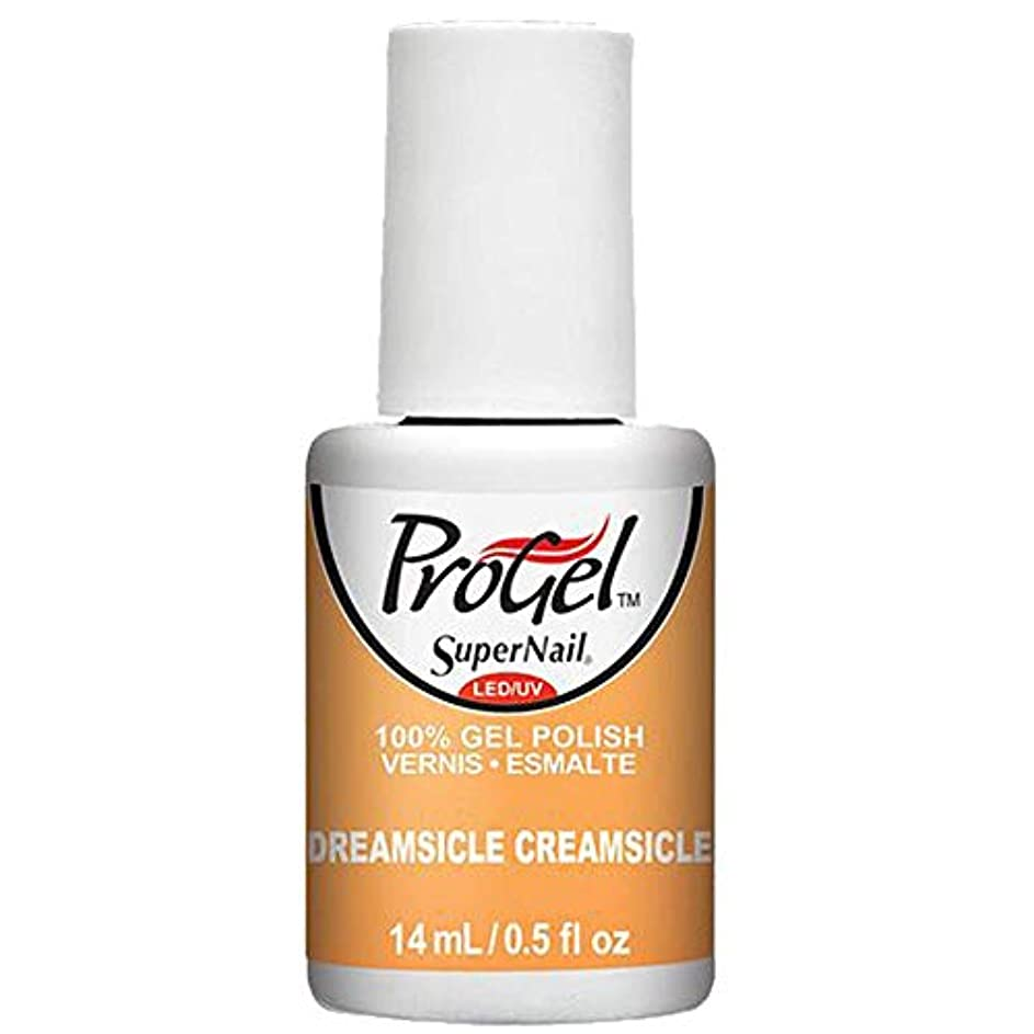 エンジン解釈的飲料SuperNail ProGel Gel Polish - Dreamsicle Creamsicle - 0.5oz / 14ml