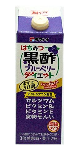 タマノイ酢 はちみつ黒酢ブルーベリーダイエット 濃縮タイプ 500mL