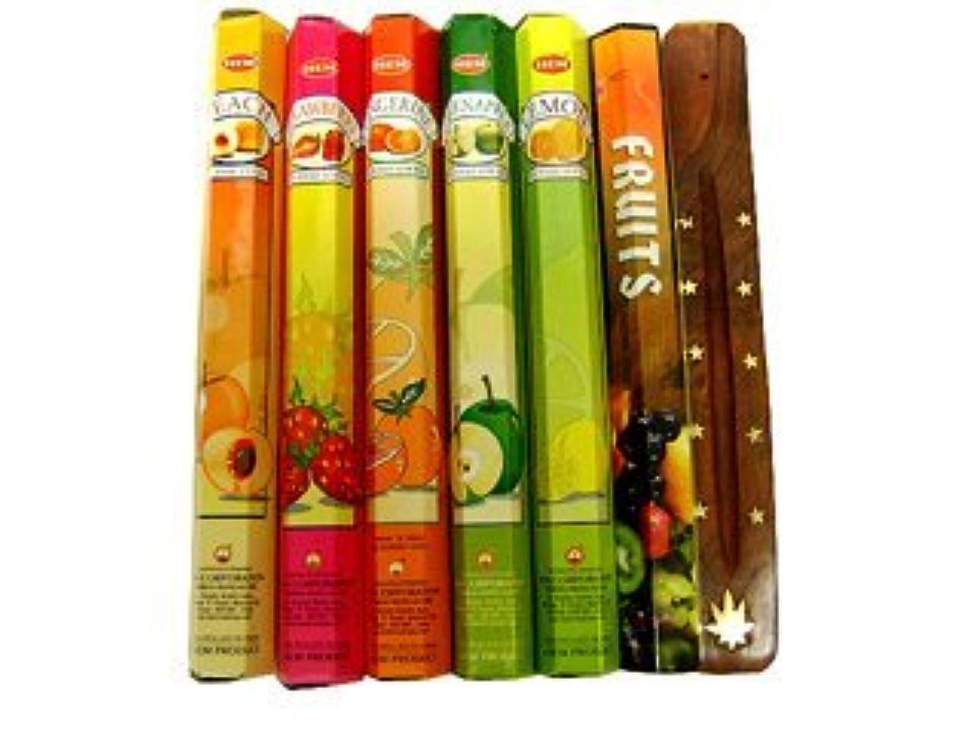 スーツケースパス口頭フルーツ好きの方にも インド香&お香立てセット