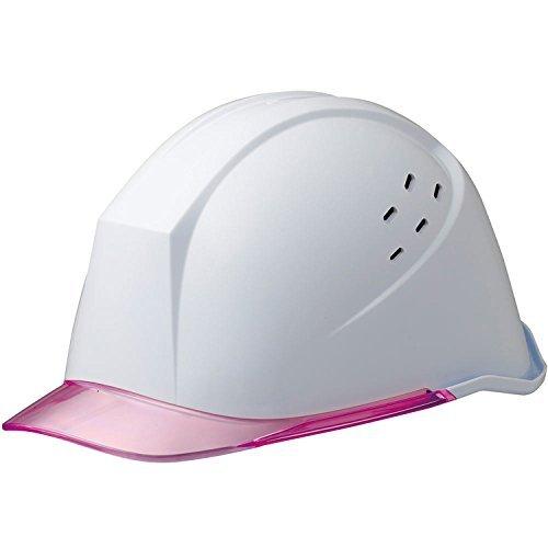 ミドリ安全 ヘルメット 女性向け 小サイズ LSC-11PCLV ホワイト/ピンク
