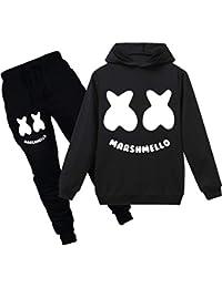 Pandolah ボーイズ パ-カー ズボン パンツ 上下セット MARSHMELLO DJ MUSIC マシュメロ 笑顔 歌手 100%コットン 日常用