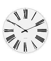 [アルネ・ヤコブセン] Clock 43622(Roman 160mm) ホワイト FREE