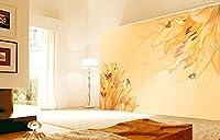 Yosot カスタムの花柄の壁紙、ファンタジーの花、部屋のベッドルームのソファーの背景防水壁紙の生活のために 3dレトロな壁画がある。-250cmx175cm