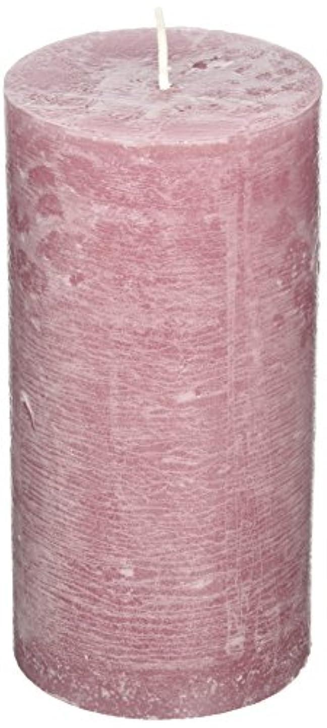 ピンククルーズまどろみのあるラスティクピラー3×6 「 ラベンダークリーム 」 キャンドル A4890020LC