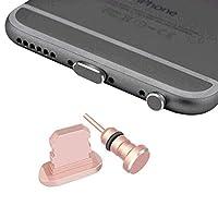 Sakula iPhone Lightningコネクタ&イヤホンコネクタ 保護キャップ アルミニウム iPhone X/iPhone 8Plus/iPhone7など 対応 Lightningコネクタ&イヤホンジャックキャップ ローズゴールド