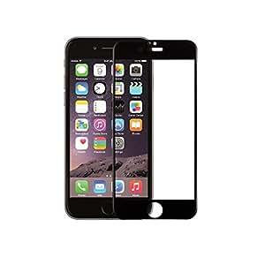 iphone 6 6s 強化ガラスフィルム 全面フルカバー 液晶保護 3Dラウンドエッジ加工 気泡ゼロ 耐衝撃 飛散防止 指紋防止加工 0.33mm 硬度9H(iphone6/6s,ブラック)