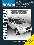 Honda Pilot/Ridgeline & Acura MDX (01 - 14) (Chilton): 2001-14 (Chilton Automotive Repair Manuals)