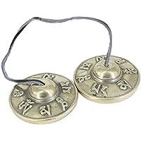 Baosity シンバルベル チャイム チベット 仏教 瞑想 ヨガ アクセサリー 全2材質選べる - 白銅