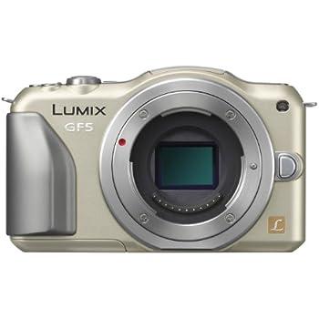 Panasonic ミラーレス一眼カメラ ルミックス GF5 ボディ 1210万画素 シャンパンゴールド DMC-GF5-N