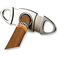 ROSENICE Cigar Cutter Stainless Steel Double Blade Guillotine Scissors for Most Size of Cigars Professional