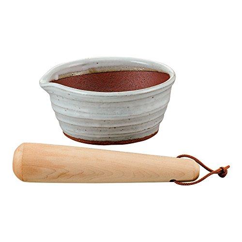 ディノス『万古焼の溝のないすり鉢とすりこ木(900-6390-07)』
