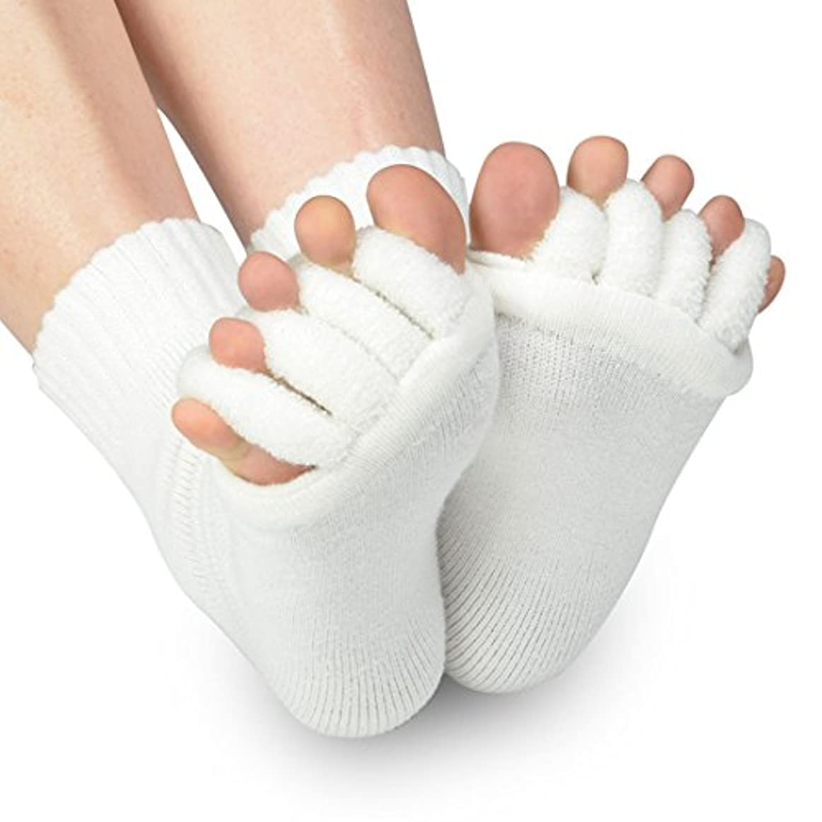 校長上に築きます行うB-PING 靴下 足指開き綿混5本指ハーフソックス 血行不良からくる足のむくみを即解消 足指開き 足指全開 男女兼用 履くだけで癒される 偏平足 対策 むくみ解消