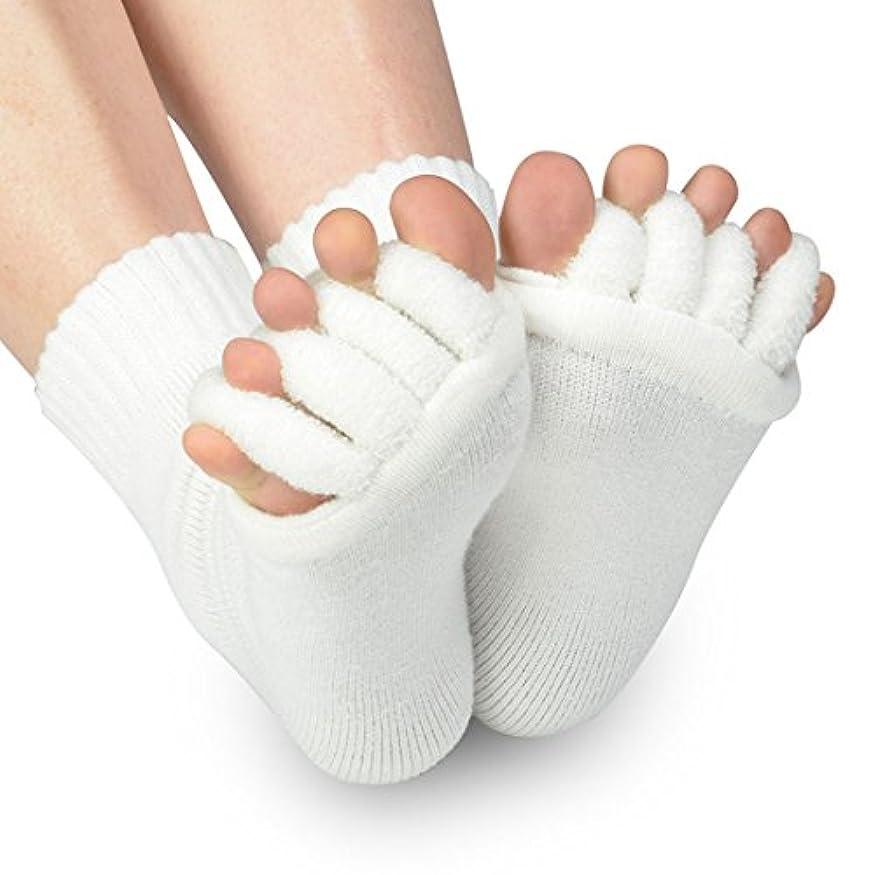 手入れセッティング免疫するB-PING 靴下 足指開き綿混5本指ハーフソックス 血行不良からくる足のむくみを即解消 足指開き 足指全開 男女兼用 履くだけで癒される 偏平足 対策 むくみ解消