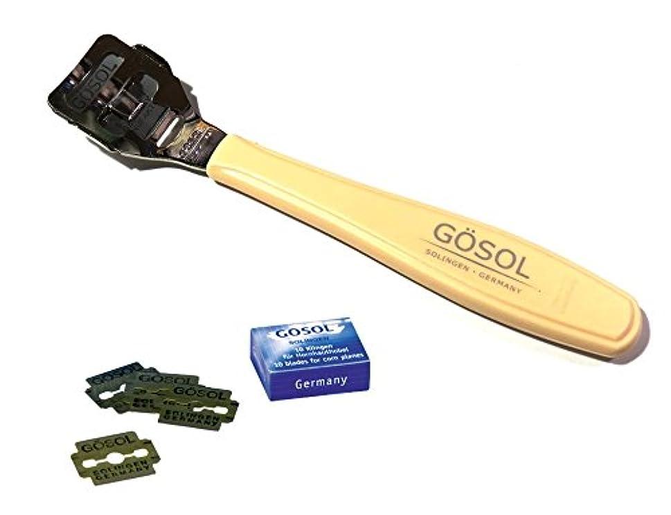損傷好意的乳白色ゲーゾル(独)GOSOL ペディコーンカッター 魚の目切り(両刃替刃10枚付)