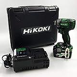 【Amazon.co.jp限定】HiKOKI(ハイコーキ) 旧日立工機 コードレスインパクトドライバ 18V WH18DDL2(LXPK) 初回修理保証付き マルチボルト蓄電池1個、充電器、ケース付き アグレッシブグリーン