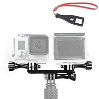 No1accessory GO-STZJ-01 ダブルデュアルスポーツカメラ用ホルター ハンドルグリップ マウントアダプター ネジ付き GoPro Hero Camera 6 5 4 3+ 3 2 HERO4 Session 適用 + スパナレンチ