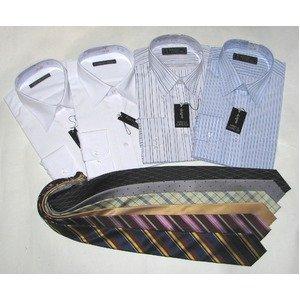 メンズビジネス10点福袋(ワイシャツ4枚&ネクタイ6点) 1...