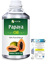Papaya (Carica papaya) Natural Pure Undiluted Uncut Carrier Oil 5000ml/169 fl.oz.