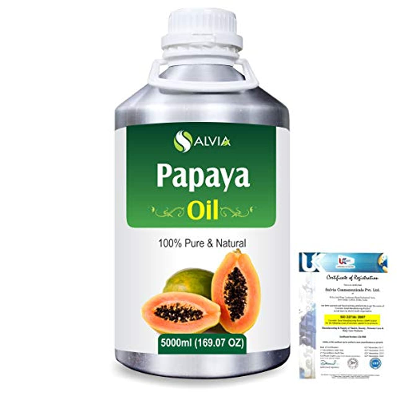 解釈的ラッシュ増幅するPapaya (Carica papaya) Natural Pure Undiluted Uncut Carrier Oil 5000ml/169 fl.oz.