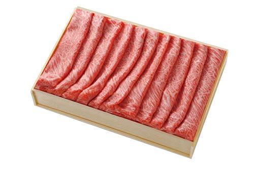 仙台牛 A-5 ロース しゃぶしゃぶ すき焼き用 300g 約2〜3人前 木箱入り 贈答用 口あたりがよくやわらかで、まろやかな風味と肉汁がたっぷりの黒毛和牛肉 赤身と脂肪のバランスがよい上質な味わい