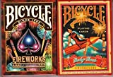 COLLECTABLE PLAYING CARDS 花火と爆竹 BICYCLE FIREWORKS &FIRECRACKERS トランプ 2デックのセット