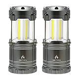 2個セット 超高輝度LED ランタン GINTAKU スライド式ランタン キャンプランタン 携帯型折り畳み式 ポータブル テントライト 電池式ランタン 防水仕様 防災対策 登山 夜釣り ハイキング アウトドア キャンプ用
