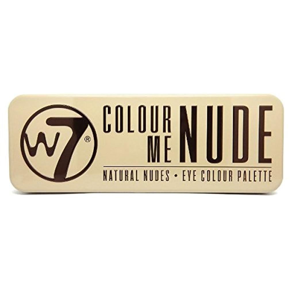 版欺チャペルW7 Colour Me Nude Natural Nudes Eye Colour Palette (並行輸入品)