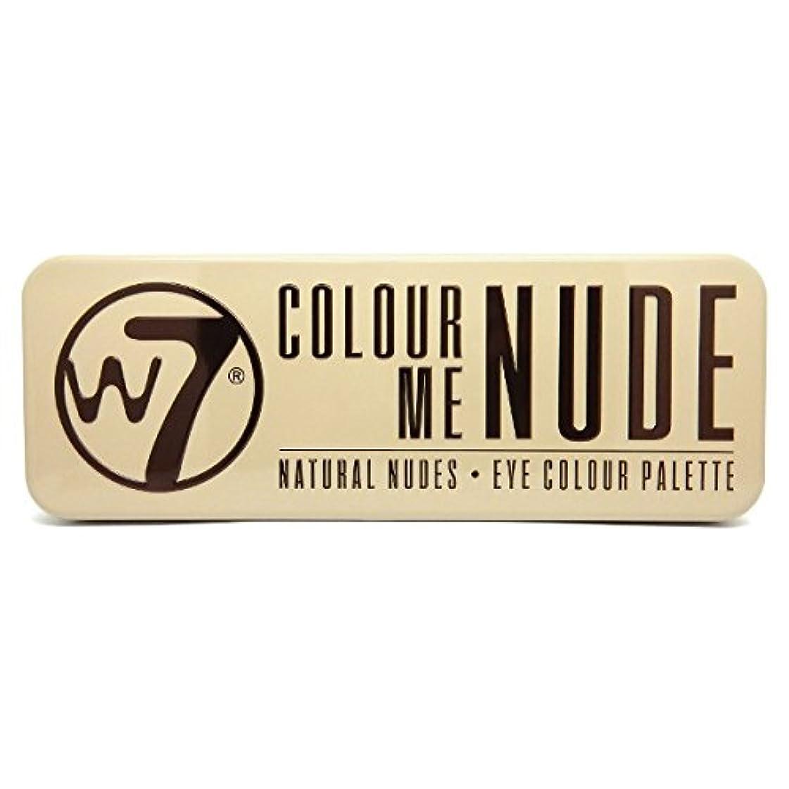 呼び起こすデコレーション鍔W7 Colour Me Nude Natural Nudes Eye Colour Palette (並行輸入品)