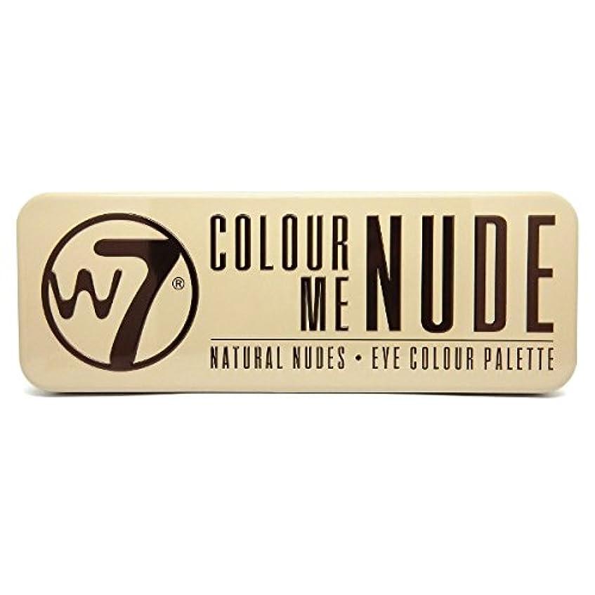 化学者回路くすぐったいW7 Colour Me Nude Natural Nudes Eye Colour Palette (並行輸入品)