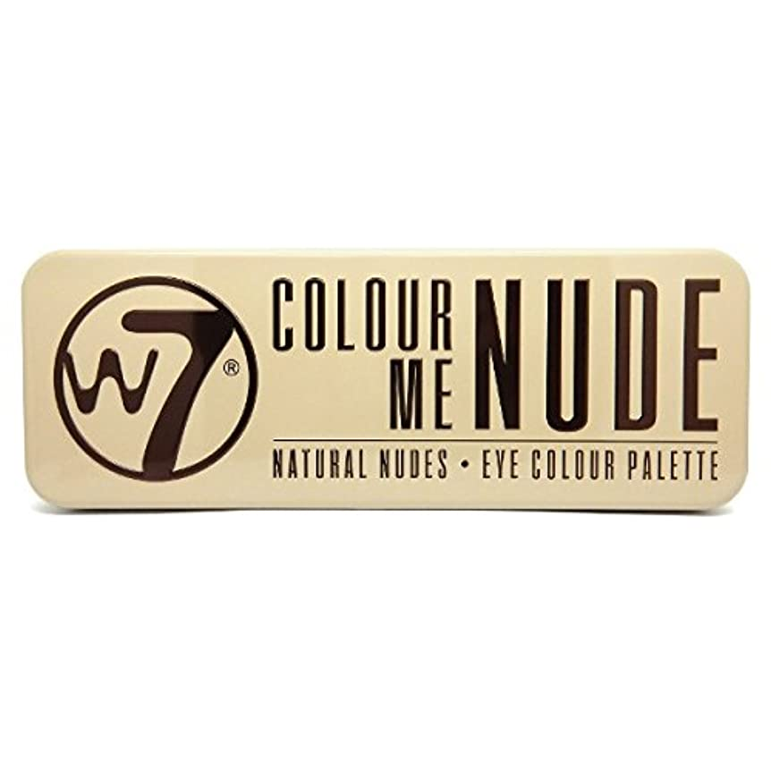 深い忠実に持続的W7 Colour Me Nude Natural Nudes Eye Colour Palette (並行輸入品)