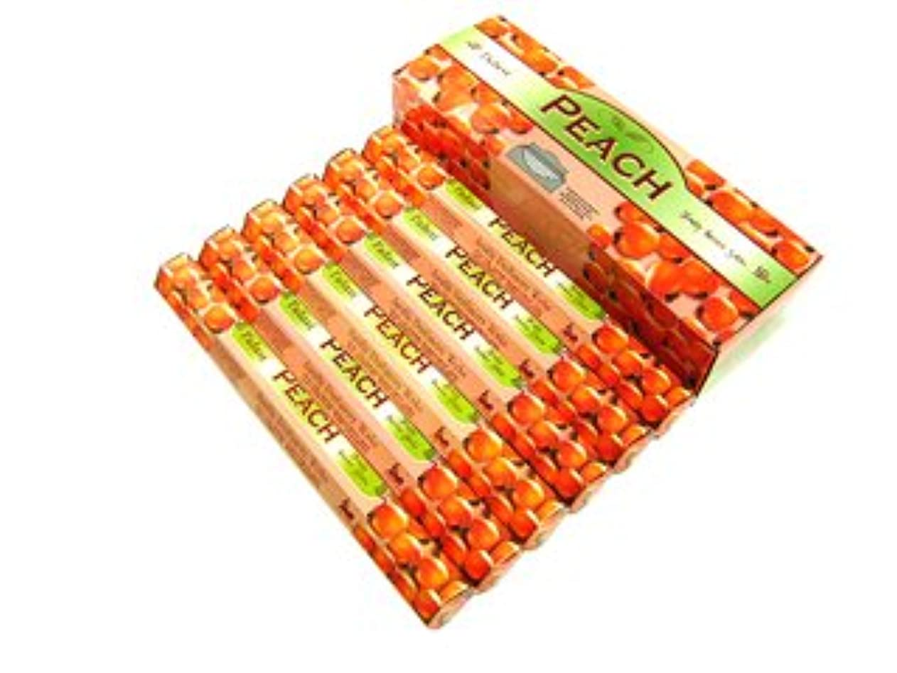 ロケーション起訴する木材TULASI(トゥラシ) ピーチ香 スティック PEACH 6箱セット