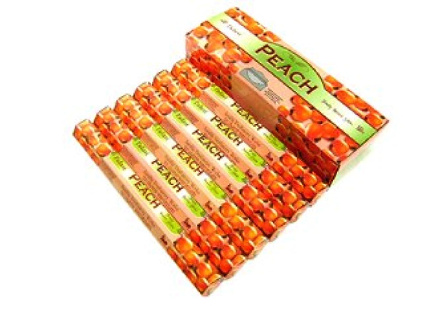 組み立てる有彩色の飢饉TULASI(トゥラシ) ピーチ香 スティック PEACH 6箱セット