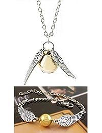 Set of Necklace & Bracelet for Harry Potter Fans Merchandise