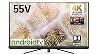 TCL 55V型 4K対応液晶テレビ スマートテレビ(Android TV) サウンドバー(ドルビーオーディオ)搭載 ブラック 2019年モデル 55C8