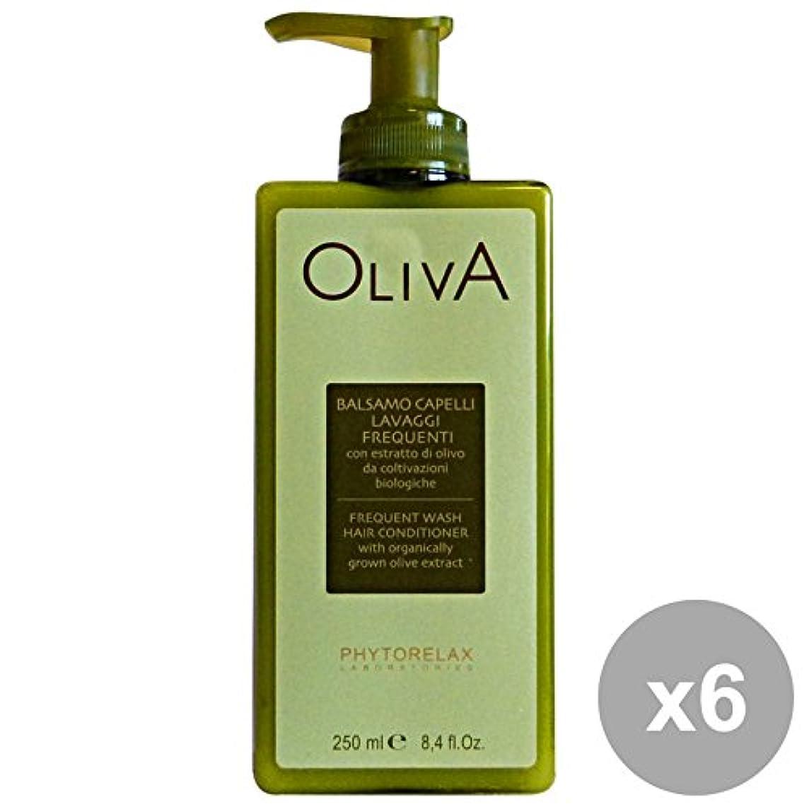 沈黙飼料必需品6ファイトレラックスオリーブバームウォッシュを洗う頻度250 ML。髪のための製品