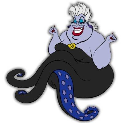 Little Mermaid Ursula Disney Vynil車ステッカーデカール???選択サイズ Large: 7