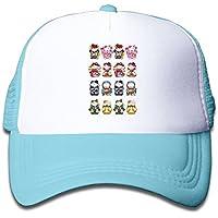 招き猫 魚 素敵 かわいい おもしろい ファッション 派手 メッシュキャップ 子ども ハット 耐久性 帽子 通学 スポーツ