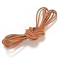 切り売り5m スエード調 紐 p-cord-01-4.オレンジ系ブラウン / 合皮革紐 革ひも レザークラフト ハンドメイド
