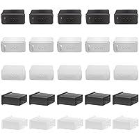 O&G USB コネクタカバー キャップ メス用 15個 シリコン製 つまみ付 ・ オス用 10個 PE製 USB2.0/USB3.0 USB-Aタ イプ USB ポート ハブ ケーブル用キャップ 防水 保護 防塵 (25個入り)