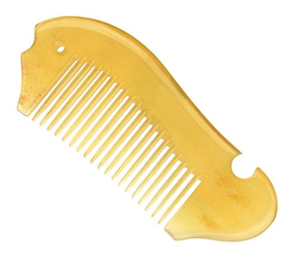 縞模様の凍った大使櫛型 プロも使う羊角かっさプレート マサージ用 血行改善 高級 天然 静電気防止 美髪 美顔 ボディ リンパマッサージ